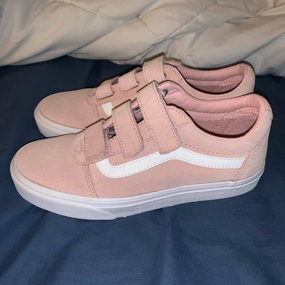 Vans Shoes | Vans Baby Pink Velcro